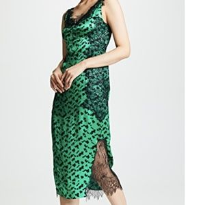 Tanya Taylor Irina Lace & Silk Dress